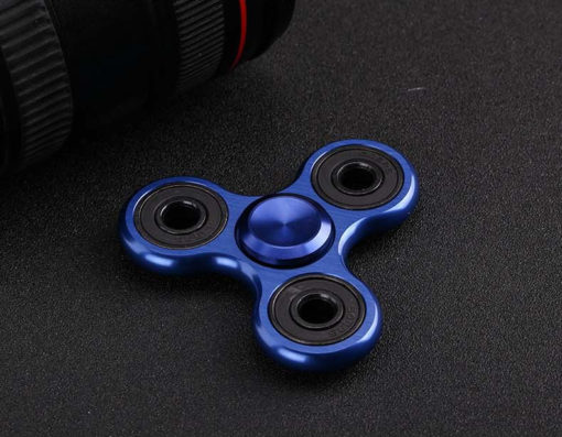 Fidget Tri-Spinner Metal blau