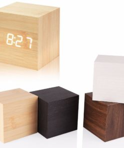 designer LED Holzwecker
