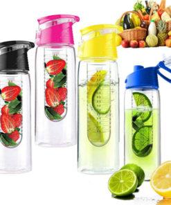 Sportflasche mit Frucht Halterung