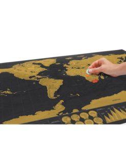 Rubbel Weltkarte Poster schweiz