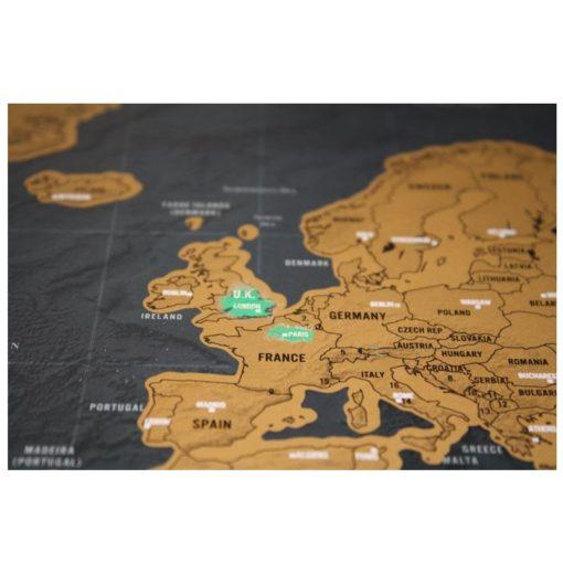 Rubbel Weltkarte Poster bestellen