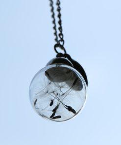 Löwenzahn Glas Halskette
