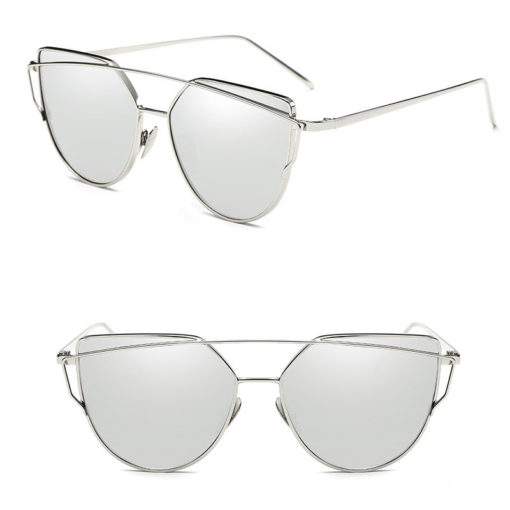 cateyes sonnenbrille Silber