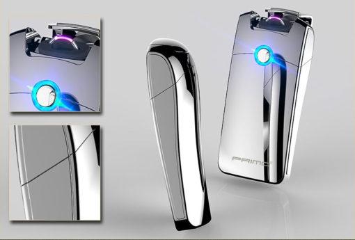 elektrisches Lichtbogen Feuerzeug Chrome