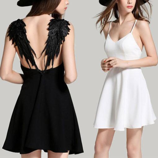 Sexy Sommerkleid mit Engelsflügel
