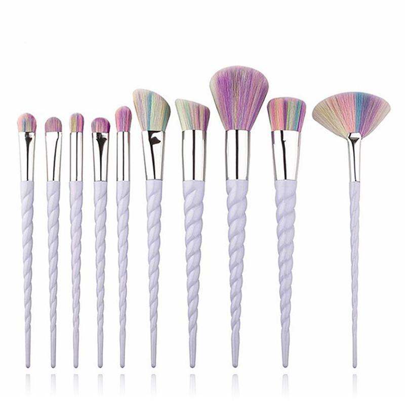 make up pinsel set im einhorn look dabruchi. Black Bedroom Furniture Sets. Home Design Ideas