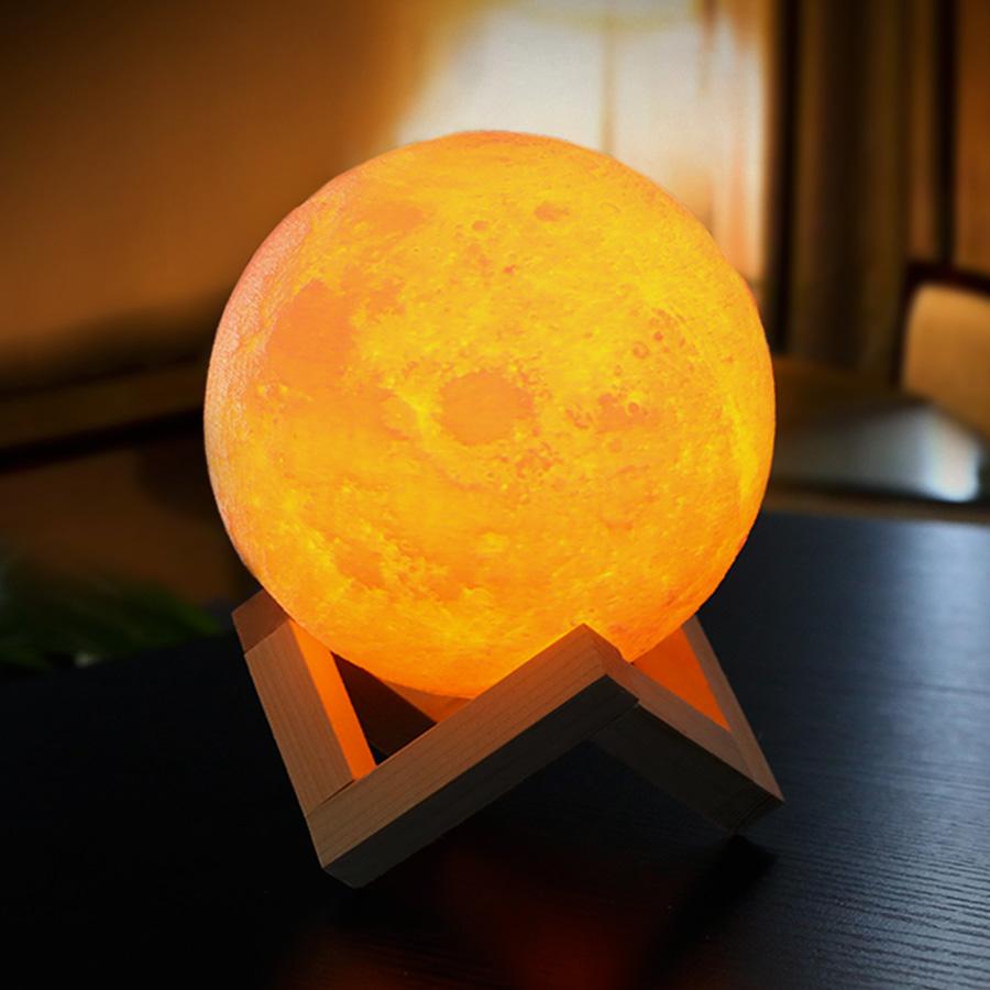 3D Mond Lampe Nachtlicht   dabruchi
