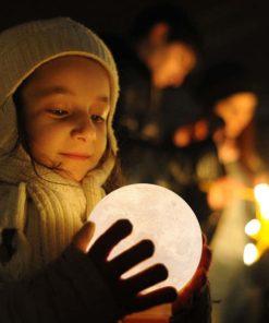 runde Mondlampe Nachtlicht