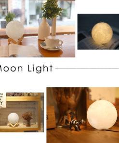 Mond Lampe rund Nachtlicht