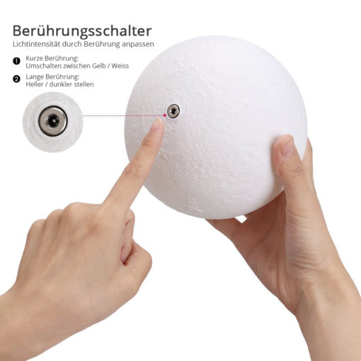 runde Mondlampe Nachtlicht kaufen Schweiz