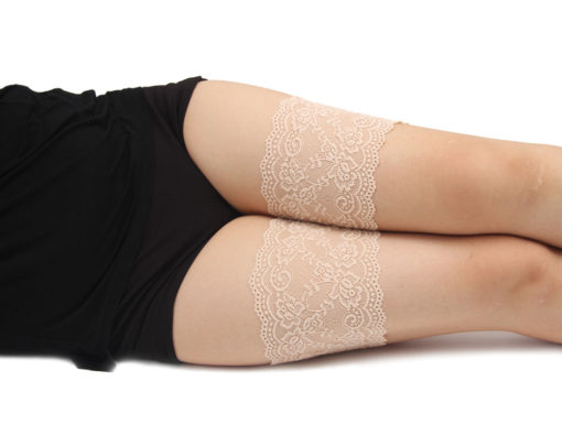 Spitzenband gegen Reibung Beine