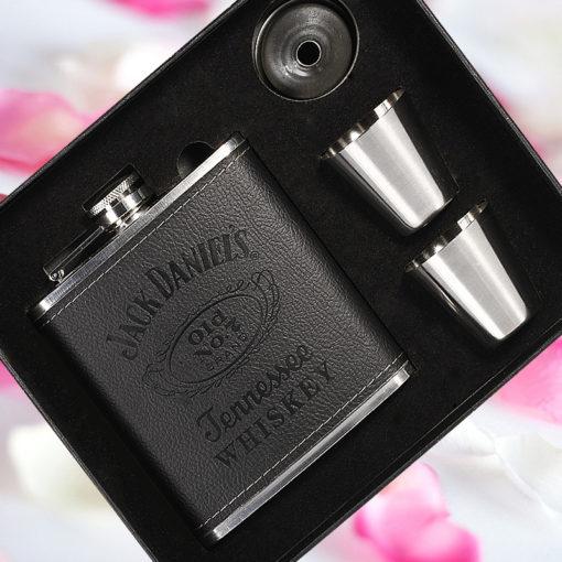 Flachmann Whiskeyflasche Geschenkset