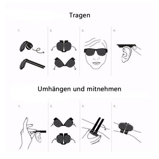 Armband Falt Sonnenbrille
