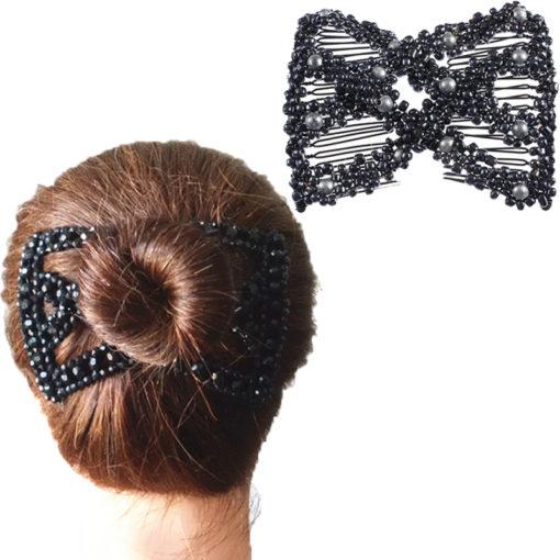 elastische Haarklammer Perlen