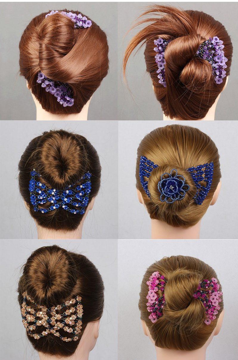 Haarklammer Haarschmuck elastisch
