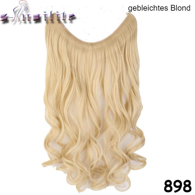 Haarverlängerung gebleichtes Blond