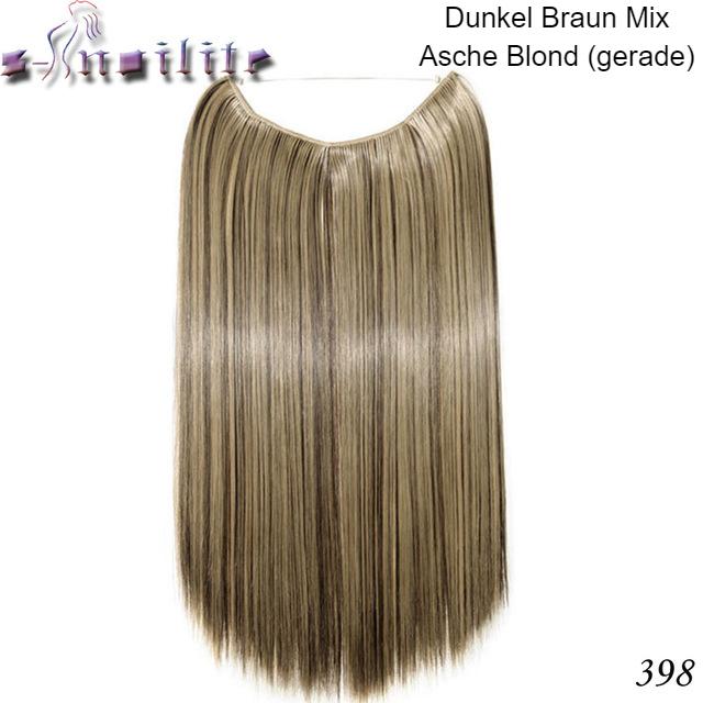 Haarverlängerung Dunkelblond Mix Gerade