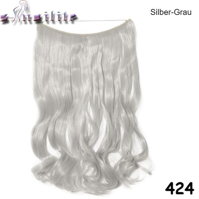 Haarverlängerung Silber Grau