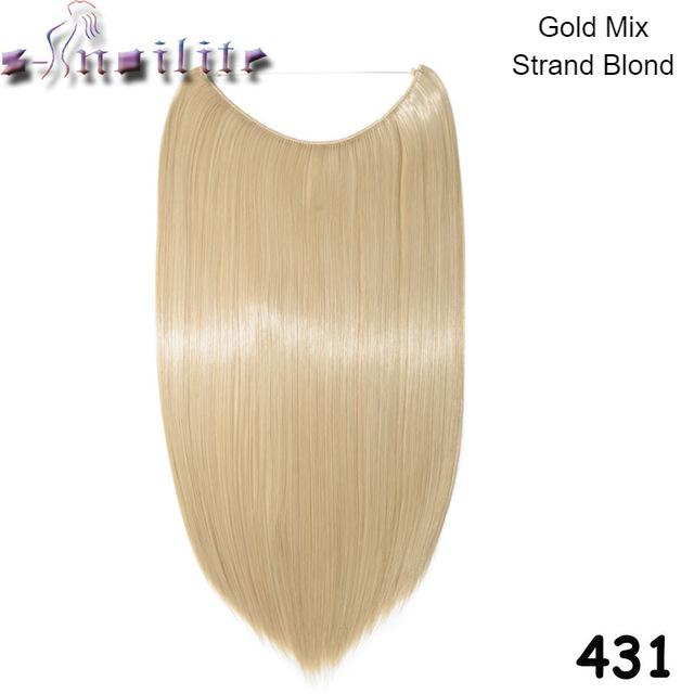 Haareinsatz gebleichtes Blondes Haar