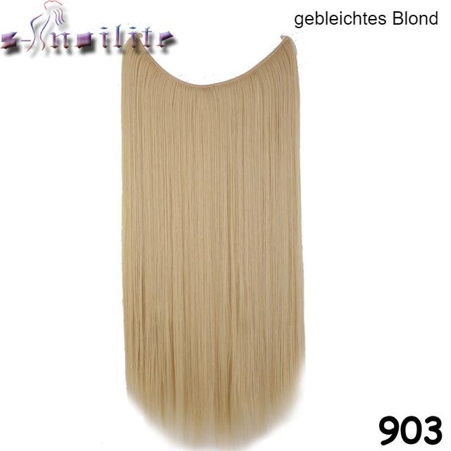 Haareinsatz gebleichtes Blond gerade