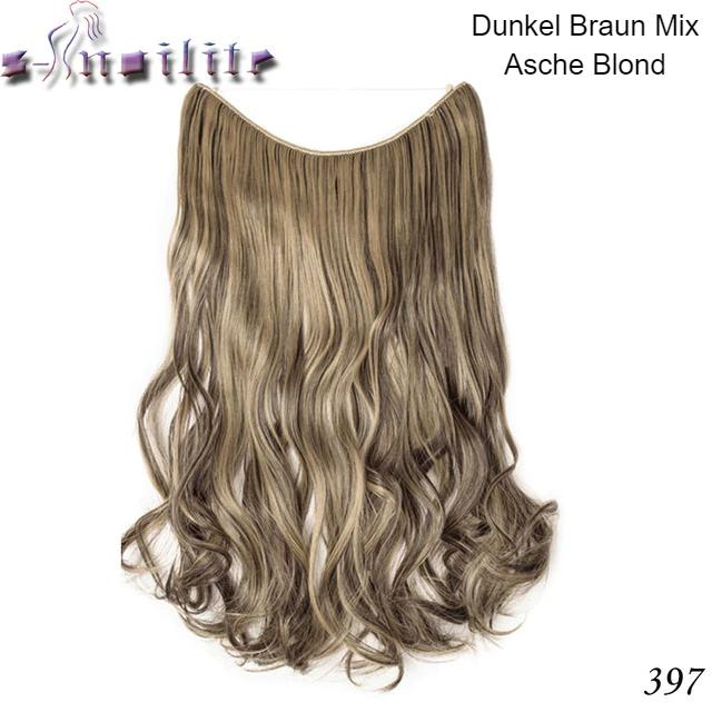 Lockige Haare Haareinsatz Blond