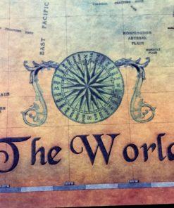 Vintage Weltkarte Poster kaufen