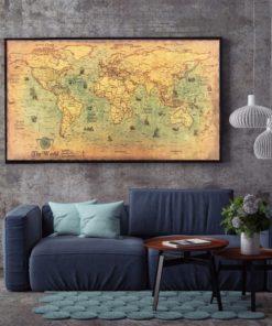 Nautische Weltkarte Poster