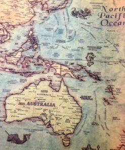 Vintage Weltkarte Poster