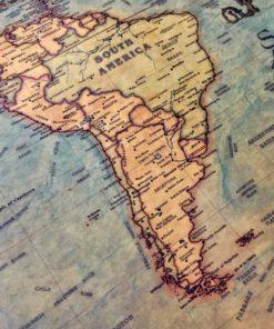 Nautische Weltkarte Poster kauifen