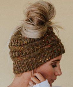 Damen Mütze mit Loch für Pferdeschwanz
