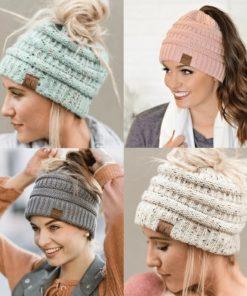 pferdeschwanz damen winter mütze