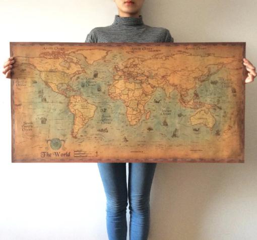 Nautische Weltkarte Poster Schweiz