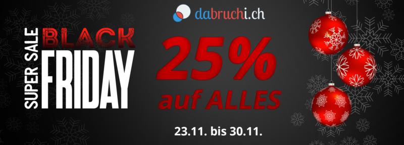 Black Friday Woche Onlineshop Dabruchi.ch Schweiz