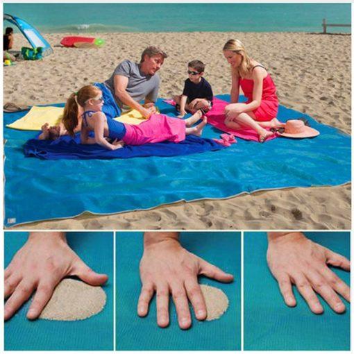 Sandfreies Strandtuch