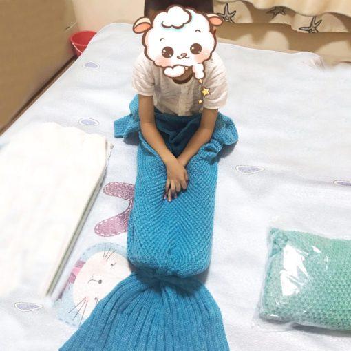 Meerjungfrau Kuscheldecke für Kinder