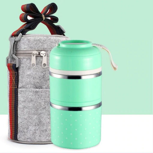 Multilevel Stapelbare Thermos Lunchbox