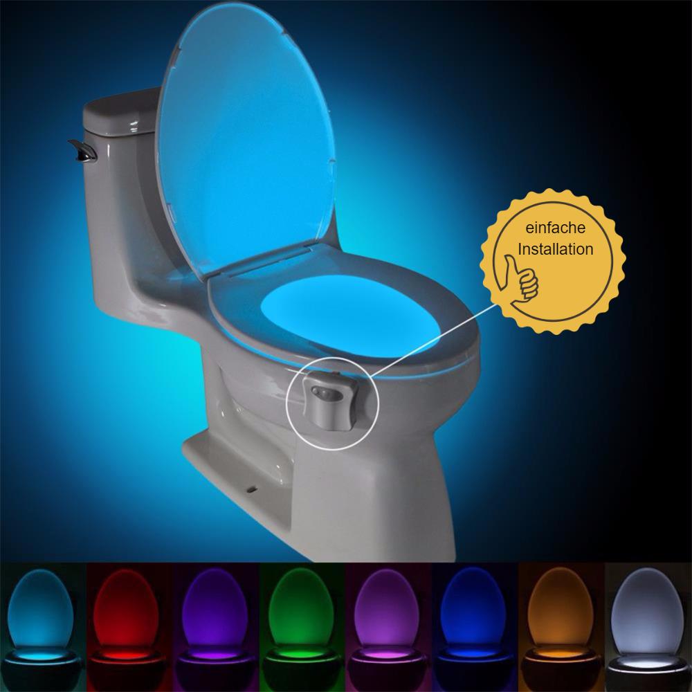 Farbiges WC Nachtlicht Bewegungssensor