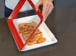 serviertablett mit frischhaltefolie