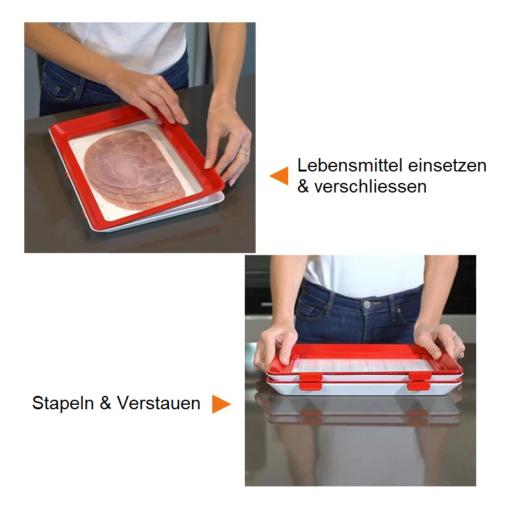 Tablett mit Frischhaltefolie Schweiz