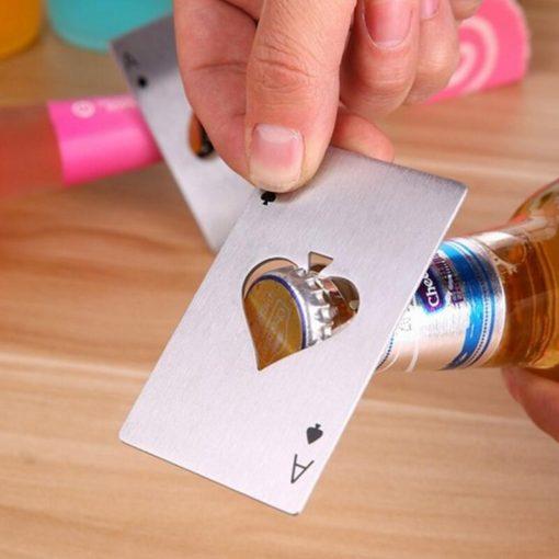 Metal Pokerkarte Flaschenöffner Schweiz
