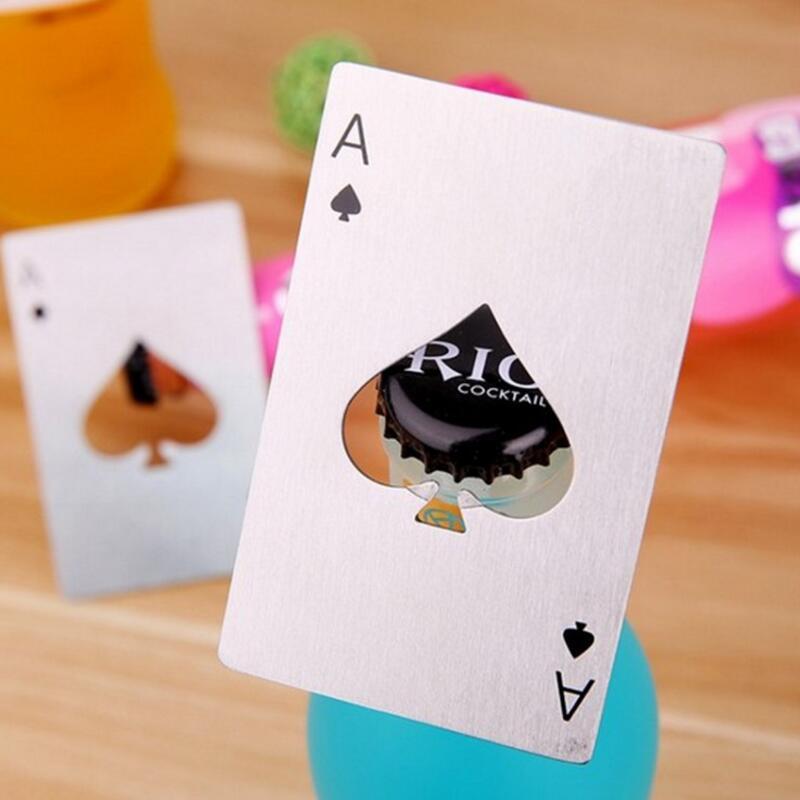 Metal Pokerkarte Flaschenöffner Spade Ass