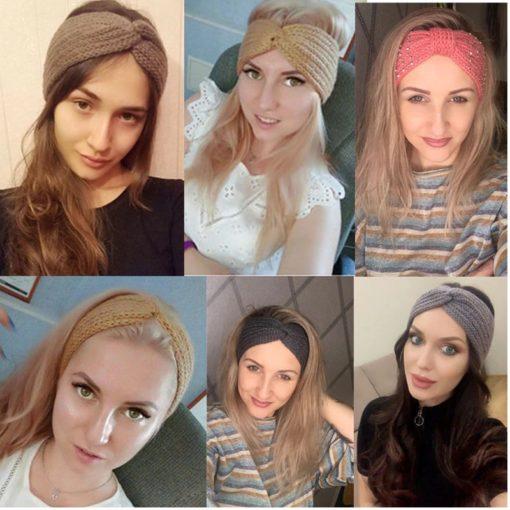 Modisches Stirnband Damen Gestrickt