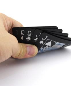 Schwarze Plastik Poker Karten Schweiz