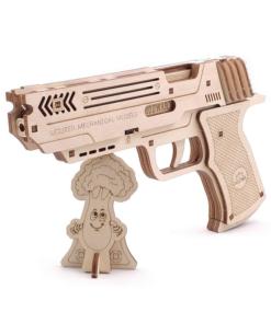 Gummiband Pistole Holz DIY