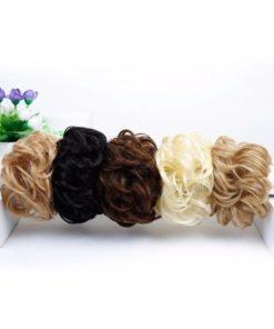Haargummi mit Haaren für Hochsteckfrisur Schweiz