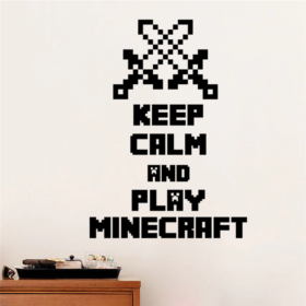 Keep Calm and play Minecraft Wandaufkleber Schweiz