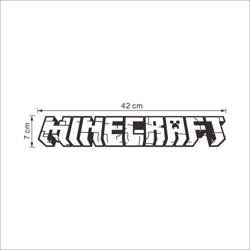 Minecraft Logo Wandaufkleber