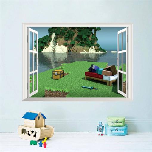 Minecraft Fenster Wandaufkleber