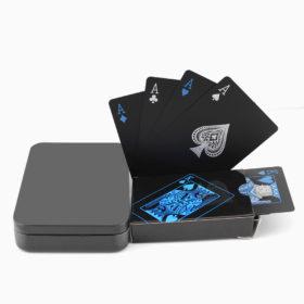 Plastik Poker Karten Schwarz Schweiz
