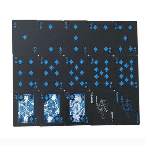 Schwarze Plastik Poker Karten